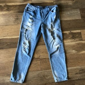 Distressed highway Jeans